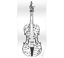 Violin with Notes Poster