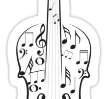 Violin with Notes Sticker