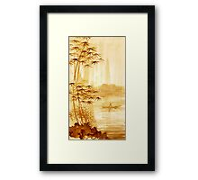LAKE - landscape art Framed Print
