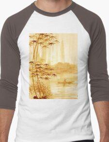 LAKE - landscape art Men's Baseball ¾ T-Shirt