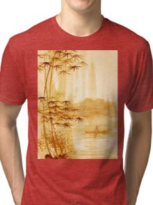 LAKE - landscape art Tri-blend T-Shirt