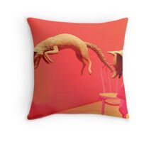 Jumping Fox, Denver Art  Throw Pillow