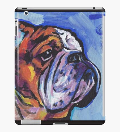English BullDog Bright colorful pop dog art iPad Case/Skin