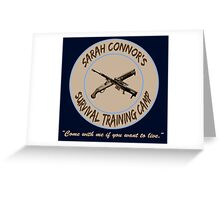 Sarah Connor's Survival Training Camp Greeting Card