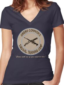 Sarah Connor's Survival Training Camp Women's Fitted V-Neck T-Shirt