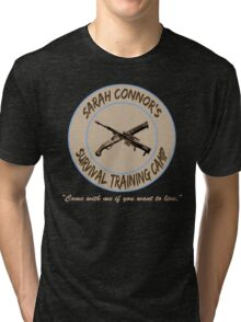 Sarah Connor's Survival Training Camp Tri-blend T-Shirt