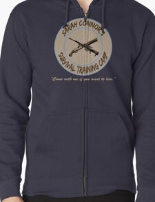 Sarah Connor's Survival Training Camp Zipped Hoodie