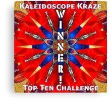 Winner! Kaleidoscope Canvas Print