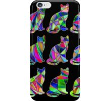 Colorful Cats 4 iPhone Case/Skin