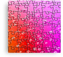 Jigsaw Pieces Pinks Canvas Print