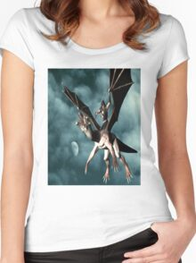 Dragon Sky Warrior Women's Fitted Scoop T-Shirt