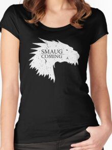 Smaug is coming Women's Fitted Scoop T-Shirt