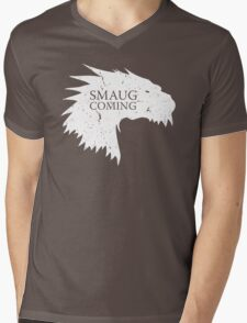 Smaug is coming Mens V-Neck T-Shirt