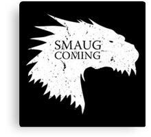 Smaug is coming Canvas Print
