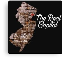 The Real Jersey Capital. NEWARK Canvas Print