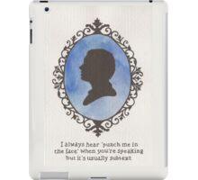 John Watson Cameo iPad Case/Skin