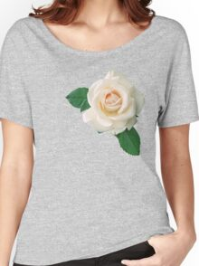 Gentle white rose Women's Relaxed Fit T-Shirt
