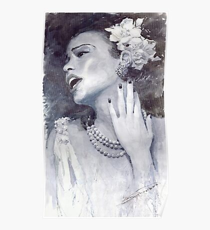 Jazz Billie Holiday Poster