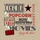 Movie Theater Cinema Admit one ticket Pillow-Red by littlebeane