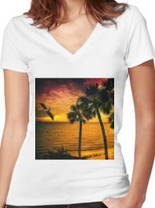 New Year in Florida Women's Fitted V-Neck T-Shirt