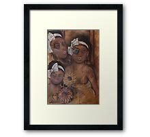 On Broken Wings She Still Flys Framed Print