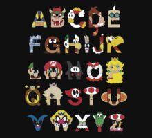 Super Mario Alphabet Kids Tee