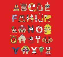 Super Mario Alphabet One Piece - Long Sleeve
