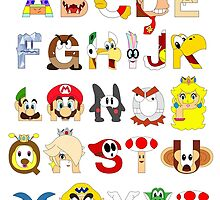 Super Mario Alphabet by Mike Boon