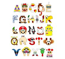 Super Mario Alphabet Photographic Print