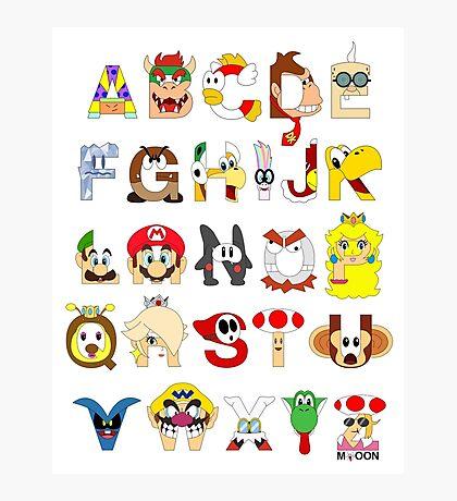 Super Mario Alphabet Photographic Print