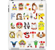 Super Mario Alphabet iPad Case/Skin