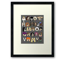 Harry Potter Alphabet Framed Print