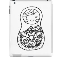 Love Russian Doll in Black iPad Case/Skin