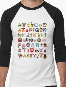 Sesame Street Alphabet Men's Baseball ¾ T-Shirt