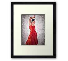 Flamenco Flame Framed Print