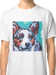 Cairdigan Welsh Corgi Dog Bright colorful pop dog art Classic T-Shirt