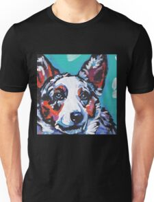 Cairdigan Welsh Corgi Dog Bright colorful pop dog art Unisex T-Shirt
