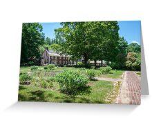 Garden Path to the Farmhouse  Greeting Card