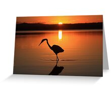 There Is Only This Moment ! -Lake Weyba SE Queensland Greeting Card