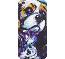cavalier king charles spaniel Dog Bright colorful pop dog art iPhone Case/Skin