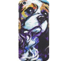 cavalier king charles spaniel Dog Bright colorful pop dog art iPhone Case/Skin