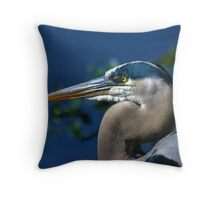 Great Blue Heron, Florida Throw Pillow