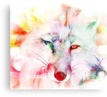 Distant fox Canvas Print