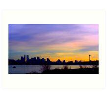 """Seattle Skyline"" Art Print"
