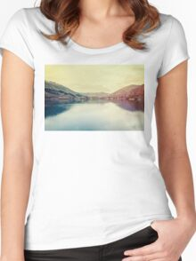 A beautiful lake Women's Fitted Scoop T-Shirt