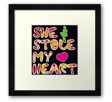 She stole my heart Framed Print