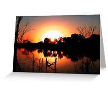Circular Sunset Greeting Card
