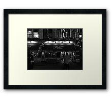 Rules - Oldest Restaurant in London - B&W Framed Print