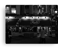 Rules - Oldest Restaurant in London - B&W Canvas Print