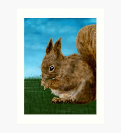 Squirrel painting Art Print